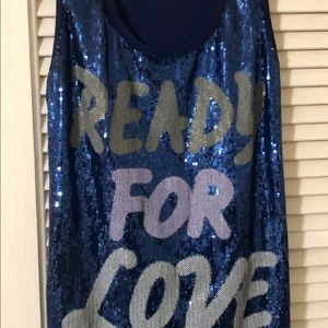 INC Sequin Tank Top